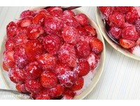 草莓滿出手機螢幕!全台4間裝好裝滿「爆料」水果冰