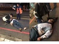 阿伯走在路上突往後倒 熱心護理師停車CPR雨中救人