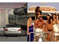 坦克壓爛「大7」成名 賭王土豪新年被「乳波臀浪」磨蹭