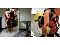 消防員有多辛苦? 他每天默默扛65kg假人爬樓訓練