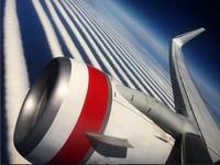 「天空斑馬線」藍白相疊! 23條飛機雲平行畫過天空