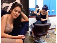泰國性感美女理髮師低胸幫客人剪髮 男客人擠爆髮廊啦