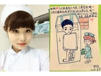 畫漫畫鼓勵「斷腿男孩」 正妹護士網路爆紅
