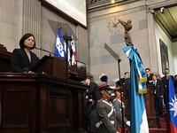 【全文】小英瓜地馬拉國會演說 瓜國首次啟動直播系統