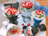 可愛無敵!桃園花藝咖啡廳推「草莓捧花」漂亮還可吃下肚