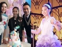 甄子丹愛女慶13歲生日 任達華女兒「墊腳」虧:比妳高