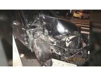 BMW車主酒駕不踩剎車連撞2車 犯後耍酷戴墨鏡