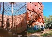 台中清水斑駁「巨大油筒」 見證美越戰爭歷史遺跡