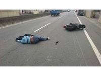 酒駕男自摔醉倒路中央 經勸阻還辯「某啦!挖某醉!」