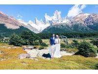 林可彤8張白紗婚照美爆! 智利安地斯山浪漫甜吻
