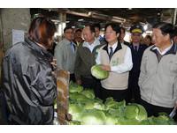 賴清德訪查果菜市場 關心年節農產品供應價格波動
