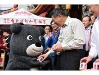 拜好拜滿!柯文哲新春兩天跑25宮廟 熊讚抓機會隨行賣萌