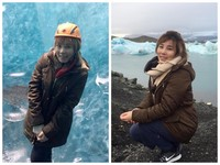 李佳薇:最不可思議的畫!見冰島「結冰湖裡有山」美景嗨爆