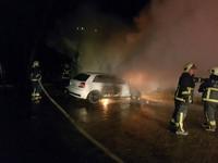 開奧迪上山看夜景…慘被煙火擊毀 22歲車主怒PO尋凶:你知嗎?