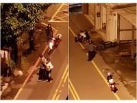 酒醉與女友大街吵 男一路踢門...踹倒外送女騎士撞牆