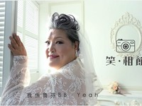 烈火奶奶「一生沒穿過婚紗」 魯芬披嫁衣甜笑融化網友