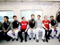 Lamigo球團試乘機捷 宣布球團年度口號「捷Speed」