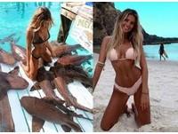 22歲澳洲高材生正妹「鯊魚共游」 比基尼絕美照辣翻
