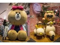 台北也有LINE咖啡廳 還有巨無霸「熊美」超好拍!