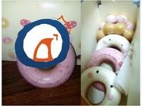 神馬!開箱超Q甜甜圈卻嚇傻 「毀容版」惹網笑:畫到手痠