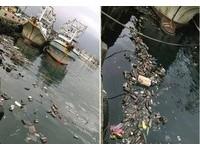 瑞芳深澳漁港飄滿寶特瓶 網友怒:好好丟垃圾很難?