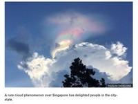 「火彩虹」燃燒新加坡天空 折射冰晶奇景持續15分鐘