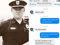 美警察用臉書幫小五生解數學...不過第二題算錯了耶XD