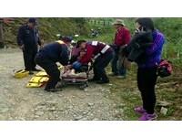 轎車墜谷3人傷…女駕駛遊寶山喝咖啡 倒車滑落10米深谷