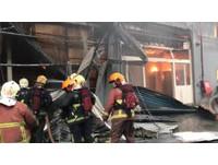 新莊連棟鐵皮工廠大火 警消出動200人全力灌救
