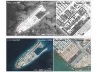 南沙渚碧島大型機庫可放運-20 還有20多座建物藏導彈