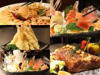 上百種料理吃到飽的浪漫!炸蝦、牛排、生魚片現點現做