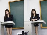 正妹老師性感套裝秀美腿上課 網友:怎麼專心啦
