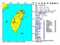 快訊/台北有感!06:10宜蘭外海規模5.2地震 最大震度4級