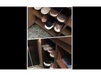 「1.5萬設計師鞋櫃」落漆!空間太淺怎麼救...網友神獻策