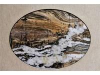 原石切割完自成一幅畫 台博館美石特展「上帝的畫布」