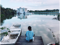 外拍女孩的夢幻漂浮系景點!宜蘭純白「水上永恆教堂」