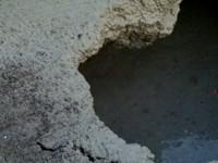 驚!高雄中正地下道 塌陷2米深大洞