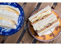 台北復古風早餐研究所 清爽的蘋果馬鈴薯三明治