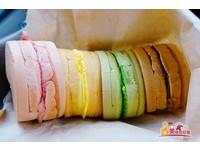 屏東彩色紅豆餅 每一口都吃得到天然的彩虹