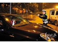 廣州保時捷男酒駕想躲臨檢 警察掏槍逼停