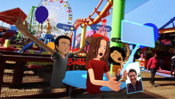 Facebook 正式發表虛擬實境社群 Spaces。(圖/翻攝自官網)