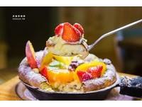 高雄法式雜貨風咖啡廳 自製鐵鍋鬆餅舖滿當季水果
