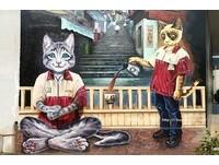 超萌好拍!雲林「貓咪彩繪」超商 連店員都是貓星人
