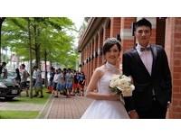 中華醫大婚紗秀 校園宛如婚紗外拍殿堂