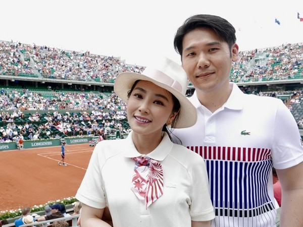 ▲藝人陳怡蓉與老公薛博仁進軍法國巴黎網球公開賽。(圖/明悅整合行銷提供)
