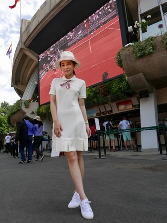 ▲陳怡蓉看法國巴黎網球公開賽。(圖/明悅整合行銷提供)