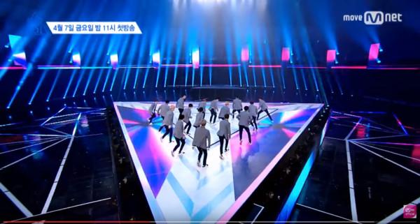 《明星的誕生》爆抄襲《Produce101》。(圖/翻攝自Mnet Youtube)