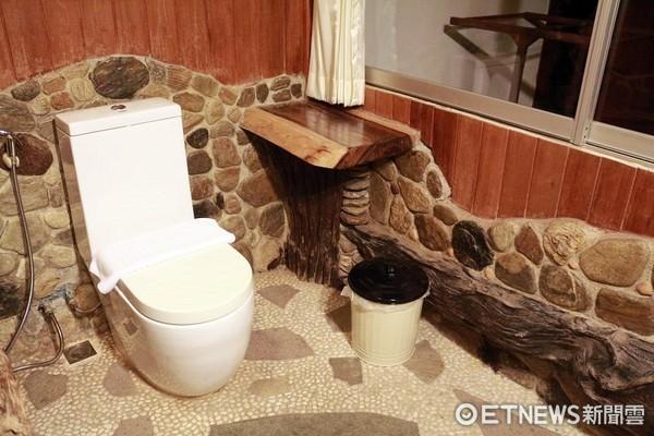 飯店廁所,旅館廁所,馬桶。(圖/記者蔡玟君攝)