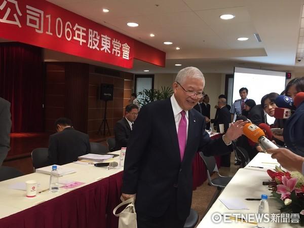 ▲永豐金董事長何壽川出席股東會。(圖/記者許雅綿攝)