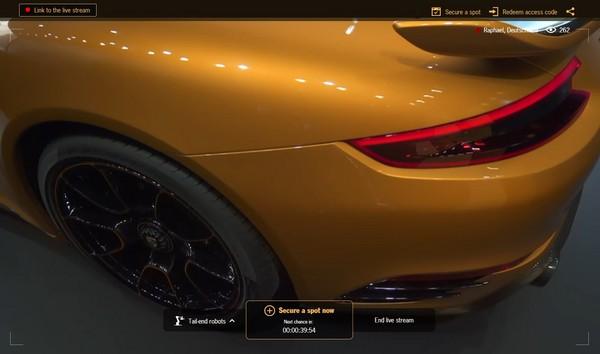 24小時不間斷無人直播「秀」新車!保時捷大搞科技噱頭(圖/翻攝自Porsche)